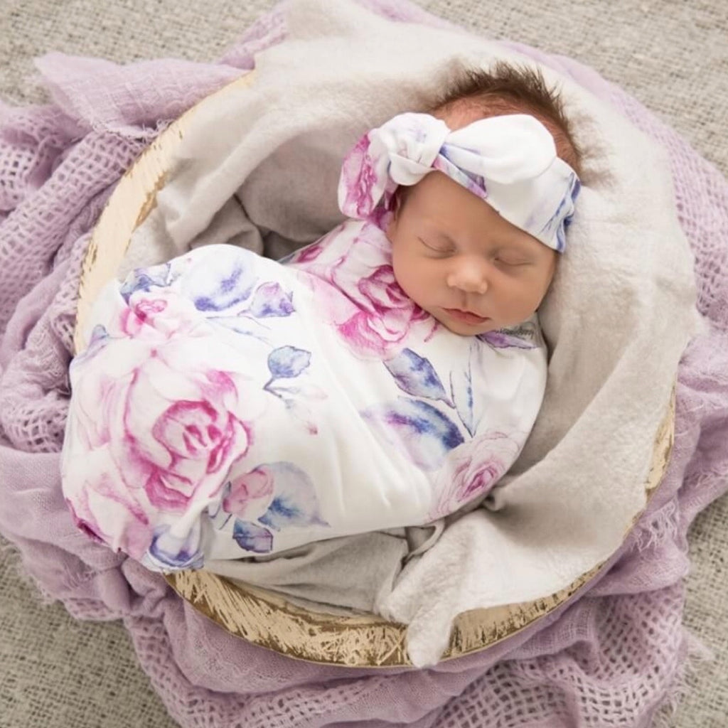 Snuggle Hunny Kids - Lilac Skies Baby Jersey Wrap Set