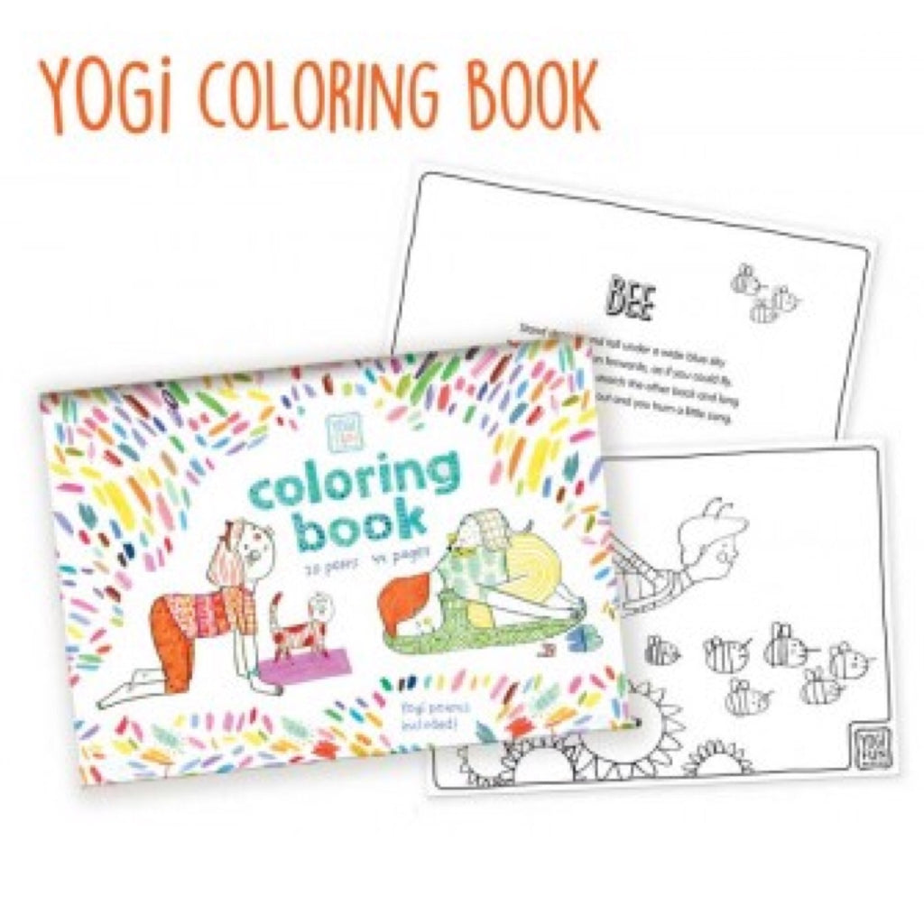 Yoga - Yogi Fun Colouring In - Rourke & Henry Kids Boutique