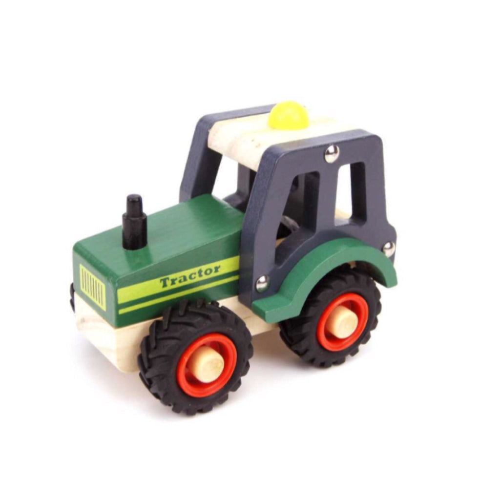 Wooden Vehicle - Tractor Green - Rourke & Henry Kids Boutique