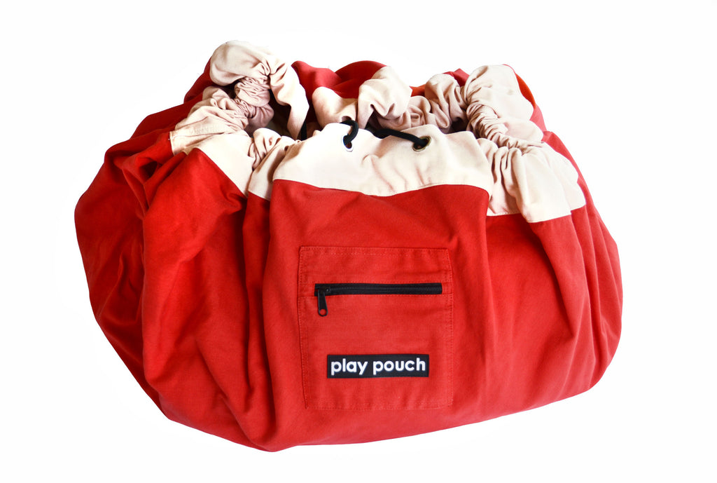 PLAY POUCH - Mini Pouch Rocket Red - Rourke & Henry Kids Boutique