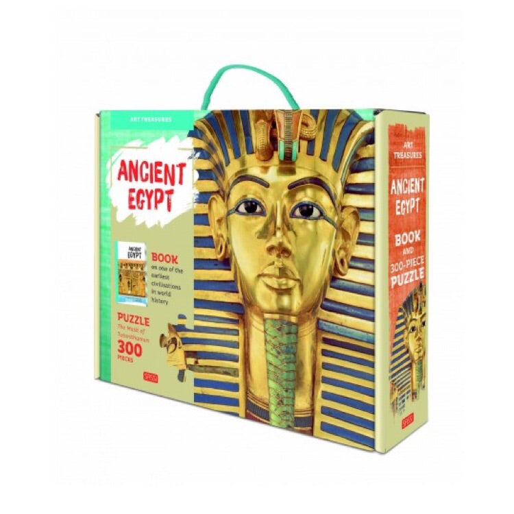 Sassi Puzzle & Book Set - Art Treasures Ancient Egypt - Rourke & Henry Kids Boutique