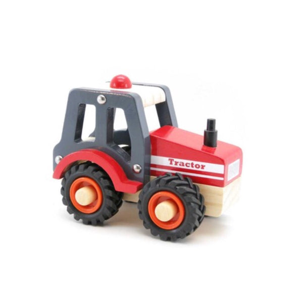 Wooden Vehicle - Tractor Red - Rourke & Henry Kids Boutique