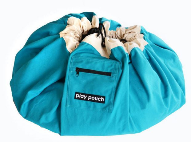 PLAY POUCH - Large Pouch Ocean Blue - Rourke & Henry Kids Boutique
