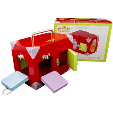 Wooden Activity Lockbox - Small - Rourke & Henry Kids Boutique