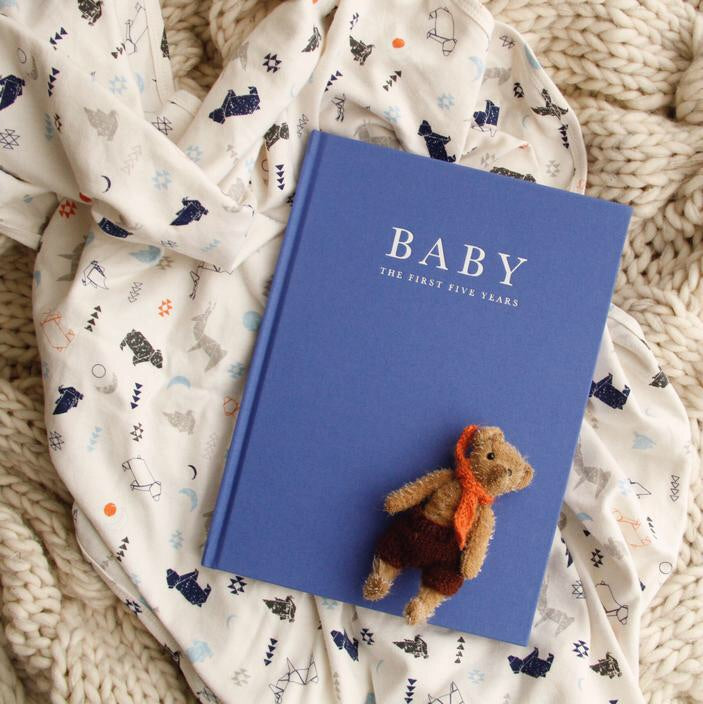 Baby Journal - Birth to Five Years Blue - Rourke & Henry Kids Boutique