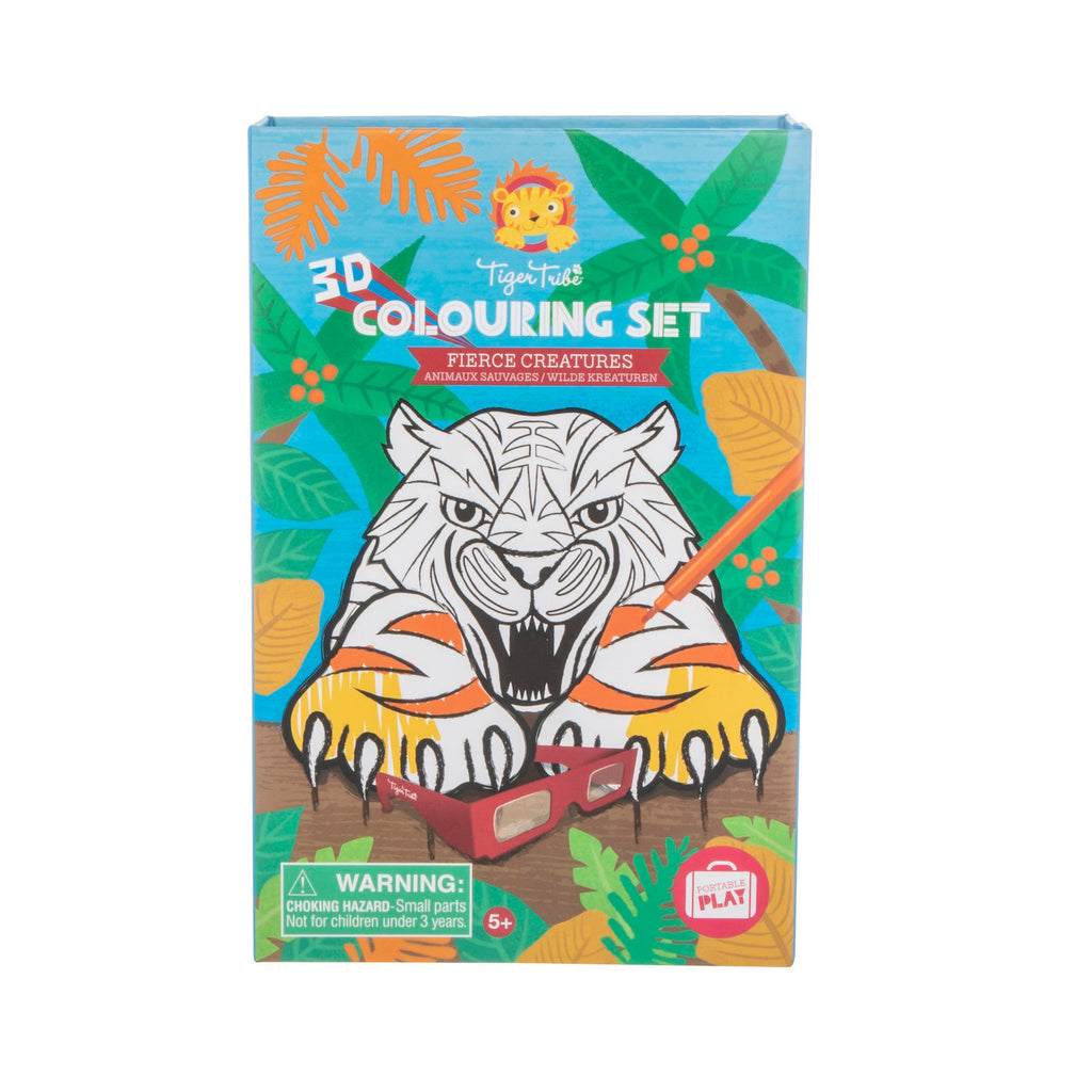 TIGER TRIBE 3D Colouring Set - Fierce Creatures - Rourke & Henry Kids Boutique
