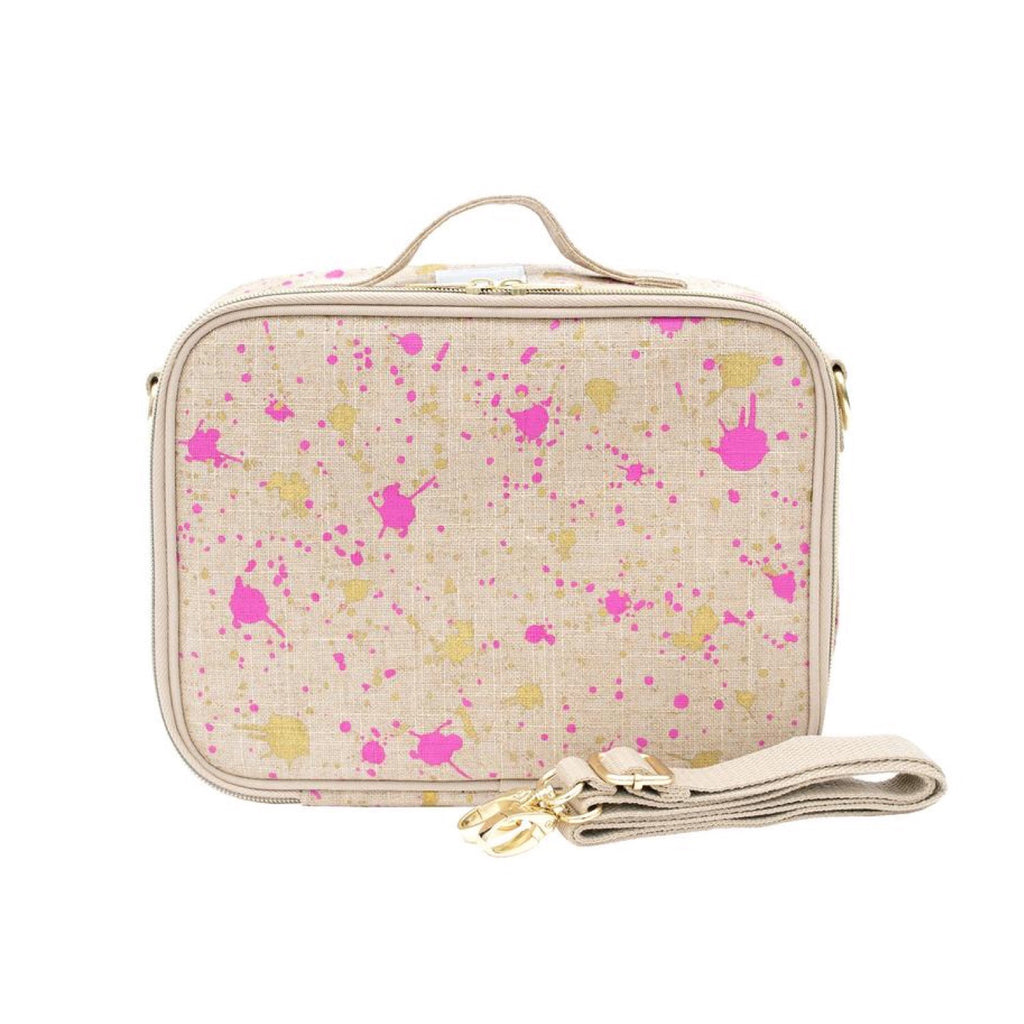 So Young Lunch Bag Fuchsia Gold Splatter - Rourke & Henry Kids Boutique