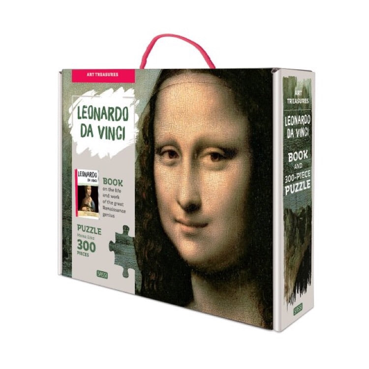 Sassi Puzzle & Book Set - Art Treasures Leonardo Da Vinci Mona Lisa - Rourke & Henry Kids Boutique