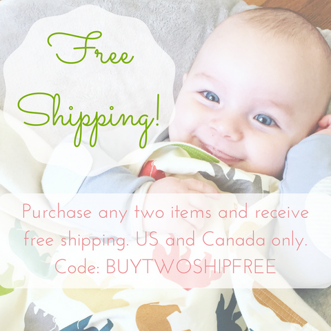 Free shipping with the purchase of any two items. *Canada & US only*