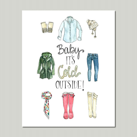 Cold outside wall art print