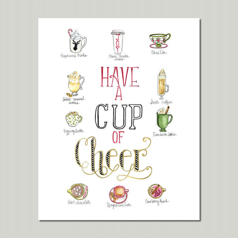Cup of Cheer Wall Art Print