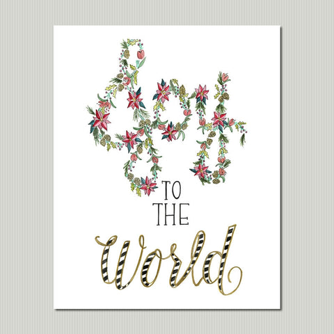 Joy to the World Christmas Wall Art Print