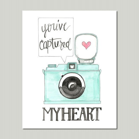 You've Captured My Heart Art Print