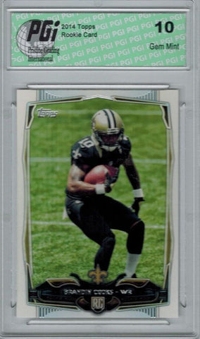 2014 Topps Football #354 Brandin Cooks, New Orleans Saints RC Rookie Card PGI 10