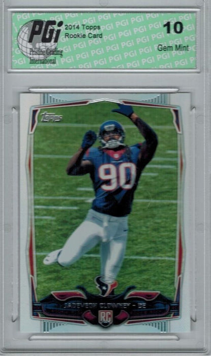2014 Topps Football #356 Jadeveon Clowney, Houston Texans RC Rookie Card PGI 10