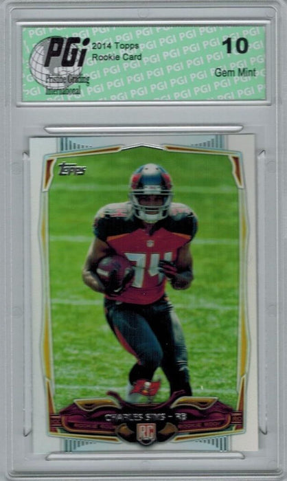 2014 Topps Football #421 Charles Sims, Tampa Bay Buccaneers Rookie Card PGI 10
