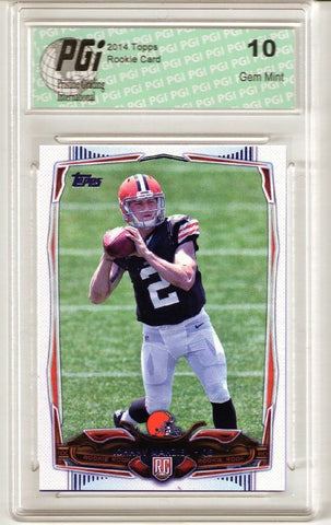 2014 Topps Football #429 Johnny Manziel, Cleveland Browns RC Rookie Card PGI 10