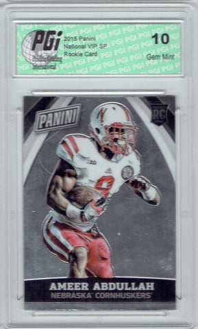 Ameer Abdullah 2015 Panini National VIP SP Rookie Card #79 PGI 10