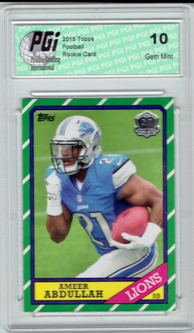 Ameer Abdullah 2015 Topps Throwback Rookie Card #T60-AA PGI 10