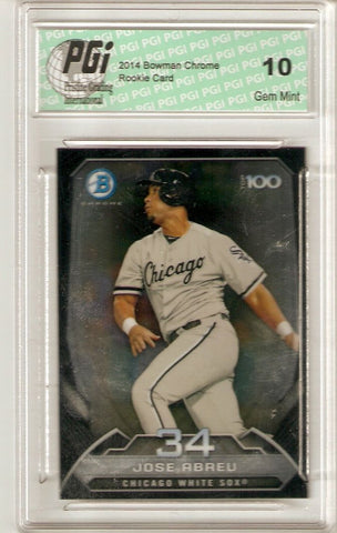 Jose Abreu 2014 Bowman 100 SP Chrome #BTP-34 White Sox Abrue Rookie Card PGI 10