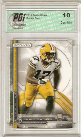 Davante Adams 2014 Topps Strata #133 Packers Rookie Card PGI 10