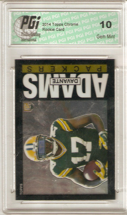 Davante Adams 2014 Topps Chrome Throwback #5 Rookie Card PGI 10