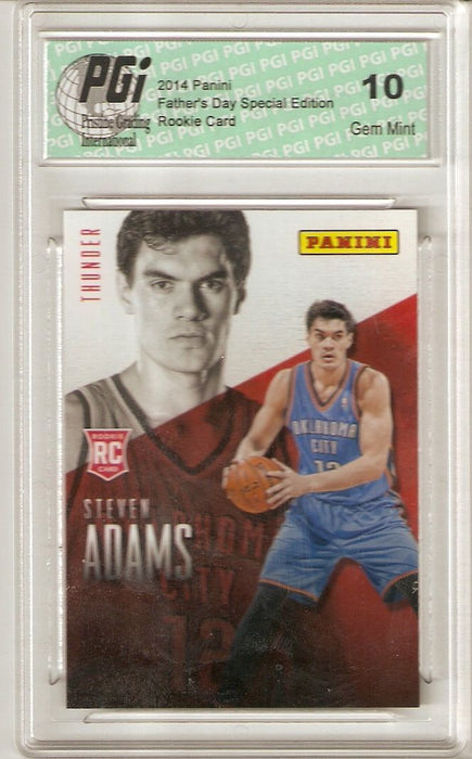 Steven Adams Thunder 2014 Panini Father's Day #R10 Rookie Card PGI 10