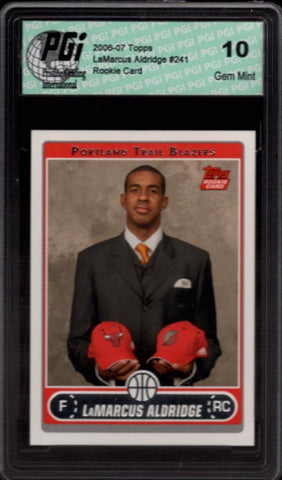 LaMarcus Aldridge 2006-07 Topps Photo Shoot Rookie Card PGI 10