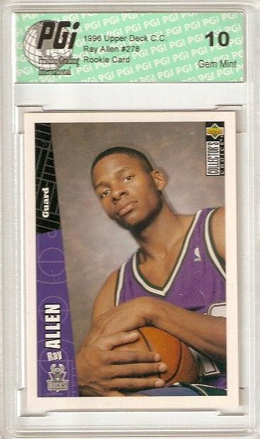 ~ Ray Allen 1996-97 Upper Deck Choice Rookie Card PGI 10
