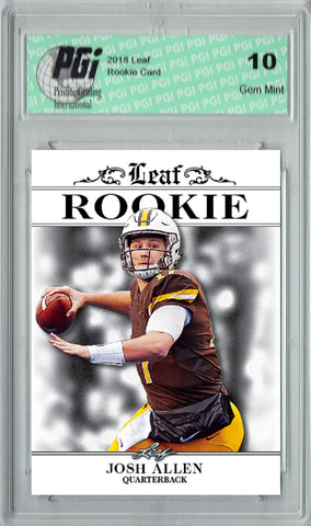 Josh Allen 2018 Leaf Exclusive #RA-02 Only 4,999 Made Rookie Card PGI 10