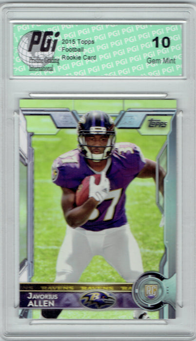 Javorius Allen 2015 Topps Football #410 Baltimore Ravens Rookie Card PGI 10