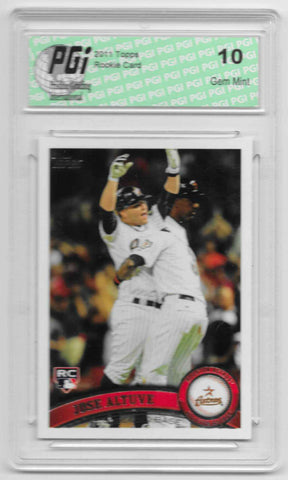 Jose Altuve 2011 Topps Update #US132 Rookie Card PGI 10