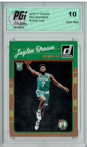 Jaylen Brown 2016-2017 Donruss #153 Rookie Card PGI 10