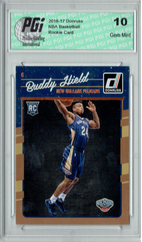 Buddy Hield 2016-2017 Donruss #156 Rookie Card PGI 10