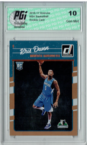 Kris Dunn 2016-2017 Donruss #155 Rookie Card PGI 10