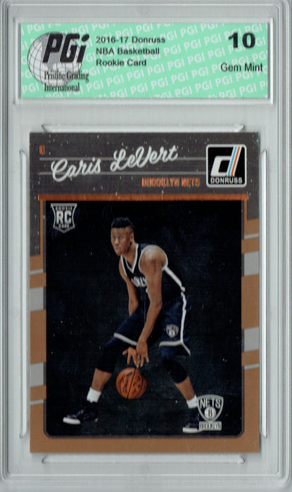 Caris LeVert 2016-2017 Donruss #167 Rookie Card PGI 10