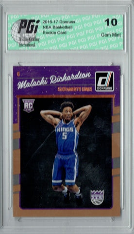 Malachi Richardson 2016-2017 Donruss #169 Rookie Card PGI 10