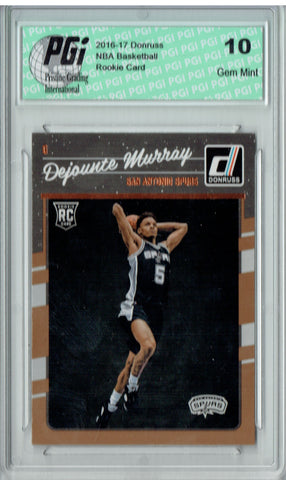 Dejounte Murray 2016-2017 Donruss #173 Rookie Card PGI 10