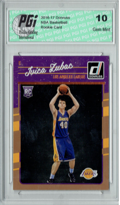 Ivica Zubac 2016-2017 Donruss #176 Rookie Card PGI 10