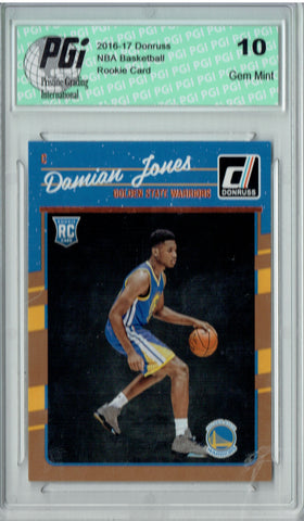 Damian Jones 2016-2017 Donruss #174 Rookie Card PGI 10