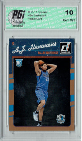 A.J. Hammons 2016-2017 Donruss #186 Rookie Card PGI 10