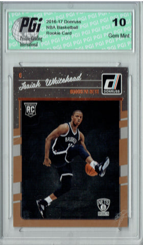 Isaiah Whitehead 2016-2017 Donruss #184 Rookie Card PGI 10