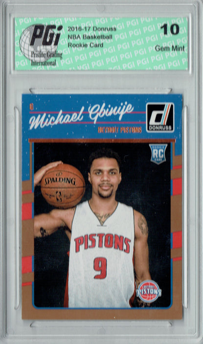 Michael Gbinije 2016-2017 Donruss #188 Rookie Card PGI 10