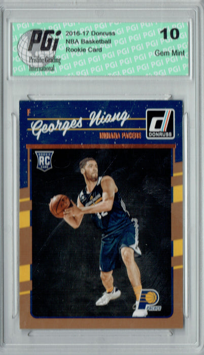 Georges Niang 2016-2017 Donruss #189 Rookie Card PGI 10