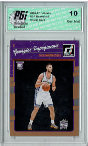 Georgios Papagiannis 2016-2017 Donruss #195 Rookie Card PGI 10