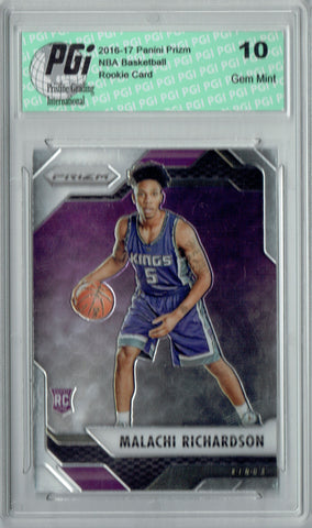 Malachi Richardson 2016 Panini Prizm #115 SP Rookie Card PGI 10