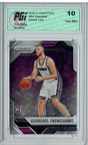 Georgios Papagiannis 2016 Panini Prizm #113 SP Rookie Card PGI 10