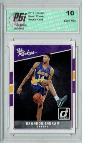 Brandon Ingram 2016 Donruss #1 The Rookies SP Rookie Card PGI 10