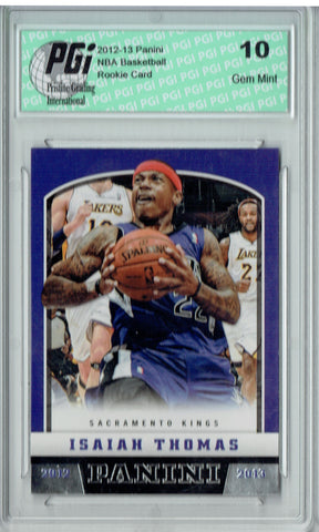Isaiah Thomas 2012 Panini Basketball #214 Rookie Card PGI 10