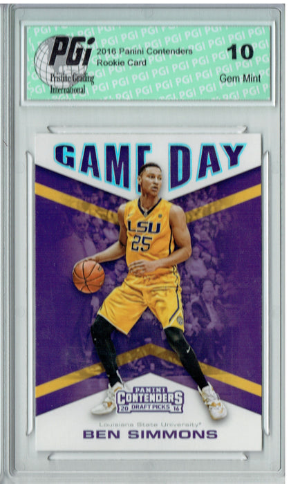 Ben Simmons 2016 Panini Contenders #20 Game Day Rookie Card PGI 10